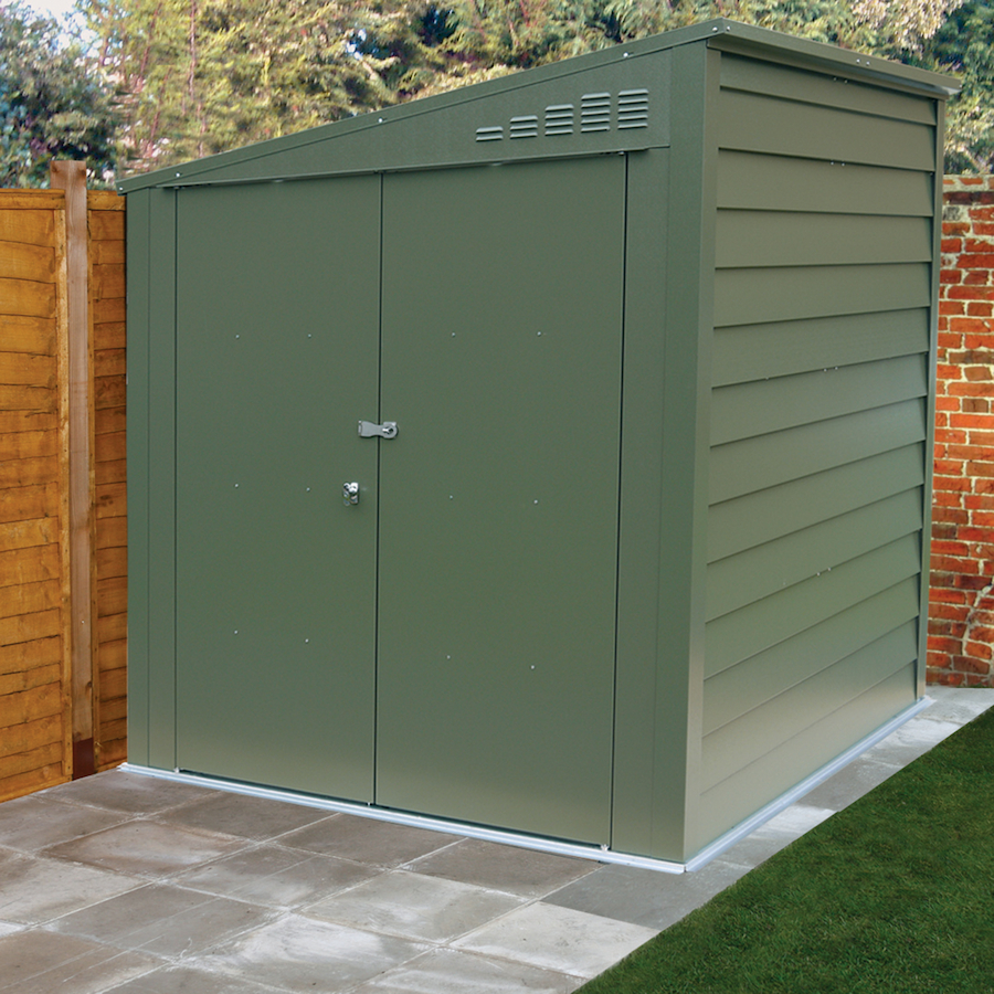 Buy outdoor metal storage shed tts for Outdoor garden shed