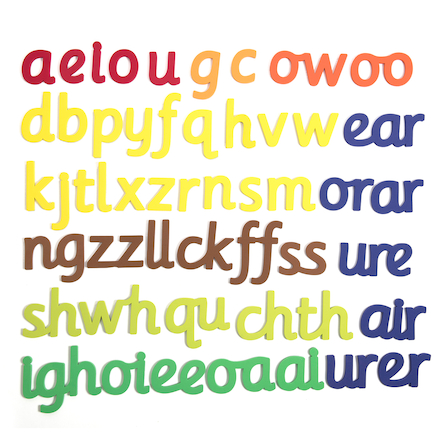 50 Large Magnetic Phonics Letter Sounds 160mm H  large