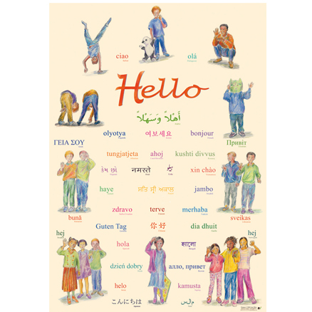Hello Poster  \- Multilingual  large