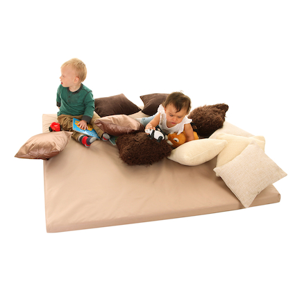 Beige Sensory Cushions and Mat  large