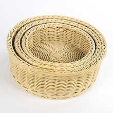 Outdoor Plastic Willow Woven Nesting Trays   medium