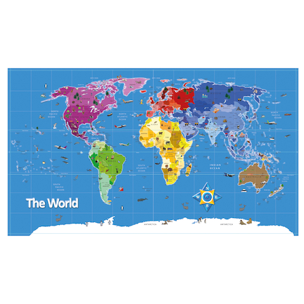 Continents and Countries Map Signboards  large