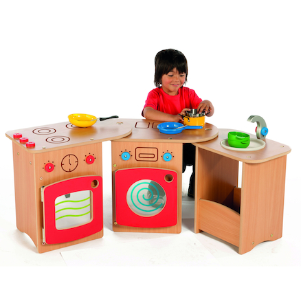 Wooden Pack Away Toddler Role Play Kitchen  large