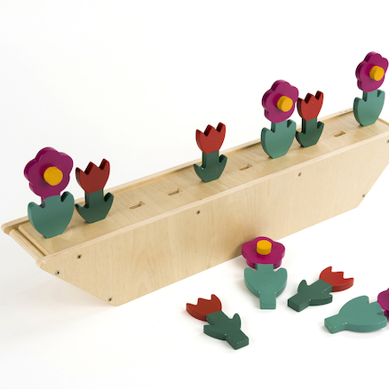 Wooden Counting and Sequencing Flowers 1-10  large
