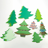 Pre Cut Jumbo Christmas Tree Cards 30pk  small