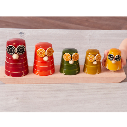 Wooden Owl Stacker 1\-5  large