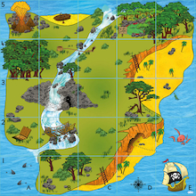 Bee-Bot® and Blue-Bot® Treasure Island Mat  medium