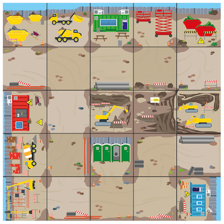 Bee\-Bot Construction Site Mat  large