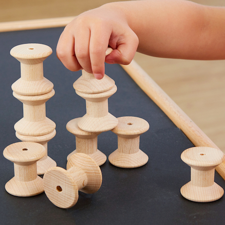 Wooden Spool Set 10pk