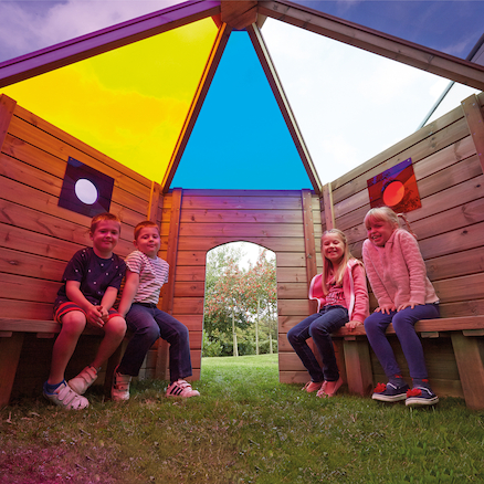 Outdoor Rainbow Den  large