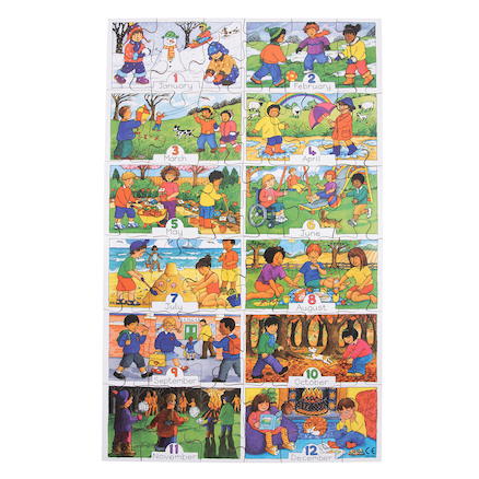 Months of the Year \x26 Days of the Week Jigsaw Set  large