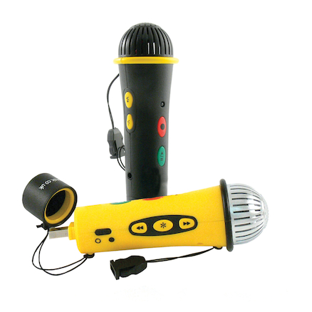 Easi Speak\u00ae Microphone MP3 Recorder Yellow 256MB  large
