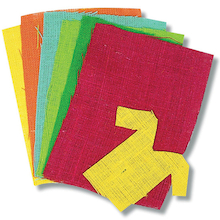 Coloured Hessian Sheets 6pk  medium