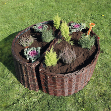 Semi Circular Willow Planter 2pk  medium