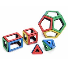 Magnetic Polydron Super Class Set 184pcs  medium