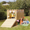 Outdoor Wooden Role Play Castle and Thrones  small