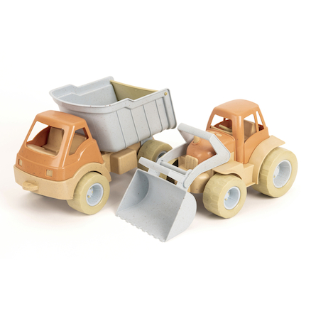 Bio Plastic Tractor and Truck Set 2pk  large