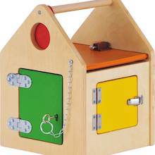 Wooden House with Locks and Latches  medium