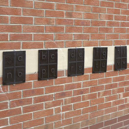 Outdoor Wall Alphabet Rubbing Plaques 7pk  large