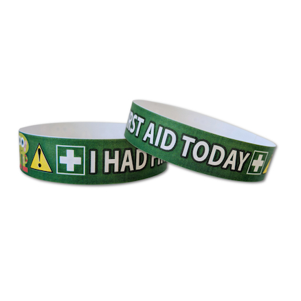 I Had First Aid Today Wristbands  large