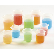 Assorted Polypropylene Beakers 10pk  medium