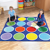Rainbow Placement Floor Mat Circle  small