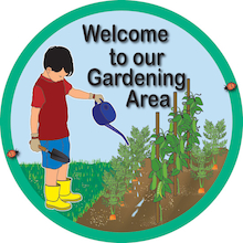 Welcome To Our Gardening Area Sign  medium
