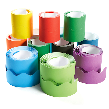 Fadeless Card Border Rolls Assorted 12pk  large