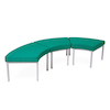 Modular Upholstered Curved Stool  small