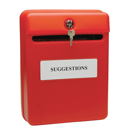 Red Lockable Suggestion/Post Box  large