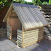 Outdoor Log Play Hut  small
