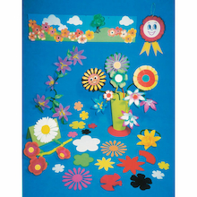 Paper Flower Shapes Assorted 500pk  medium