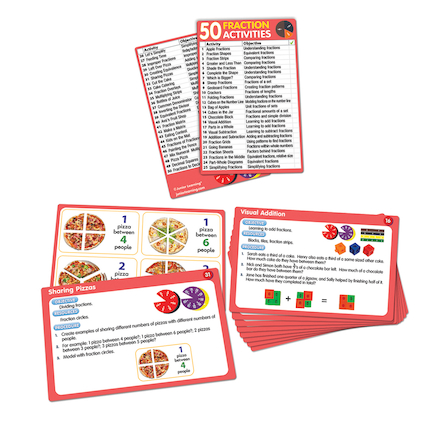 50 Fraction Activities  large