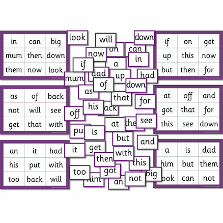 Phase 4\/5 High Frequency Word Bingo  large