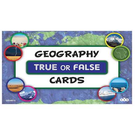 Geography True or False Activity Cards  large