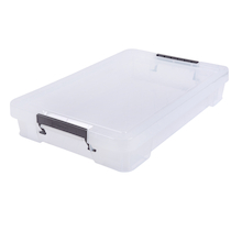 Clear Plastic Shallow Storage Boxes  medium