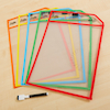 Clear Write and Wipe Work Storage Pockets  small