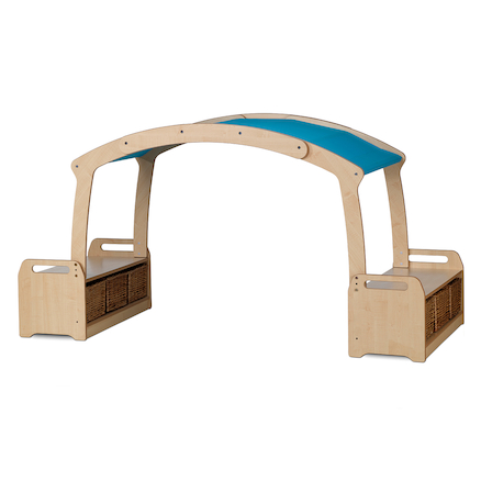 Playscapes Low Level Den Canopy with Integrated Storage  large