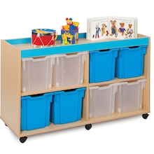 Bubblegum 8 Jumbo Tray Storage Unit  medium