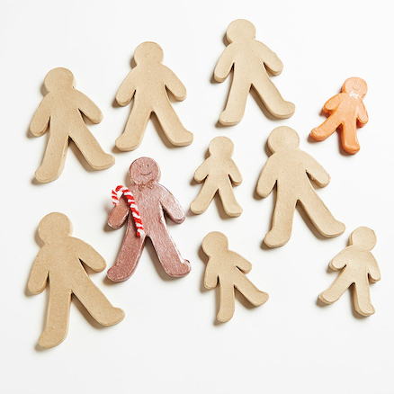 Papier Mache Gingerbread Men Assorted 10pk  large