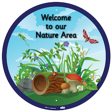 Welcome to our Nature Area Sign  medium