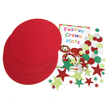 Festive Crown Christmas Hats 30pk  medium