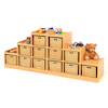Tiered Storage Units With Wicker Baskets Offer  small