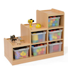 Wooden Tiered Tray Storage Unit  small