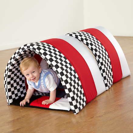Black and White Striped Soft Baby Tunnel  large