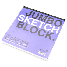 Jumbo Sketch Block 25x25cm 100gsm  medium