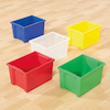 Classic Plastic Storage Trays Small Red  small