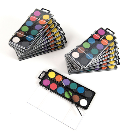 12\-disk Paint Set w\/brush in 16\-bulk pk  large