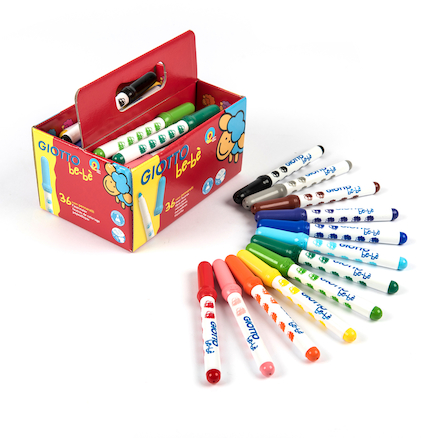 Giotto Bebe Fibre Tipped Colouring Pens 36pk  large
