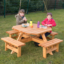 Octagonal Junior Height Picnic Bench  medium